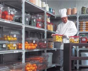 ארגל ציוד למסעדות, מדפים, אחסון מזון